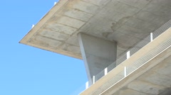 Concrete structure on a blue sky 4k Stock Footage