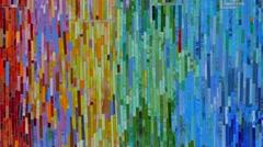 Colorful mosiac backsplash 4k Stock Footage