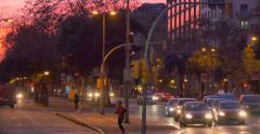 BARCELONA, SPAIN: Avinguda Diagonal Stock Footage