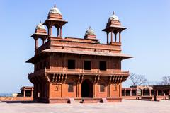 Fatehpur Sikri, India, built by the great Mughal emperor, Akbar beginning in  Stock Photos
