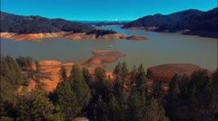 beautiful view of the Shasta Lake - stock footage