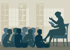 Stock Illustration of Story reading
