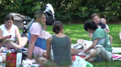People relaxing Manhattan - stock footage