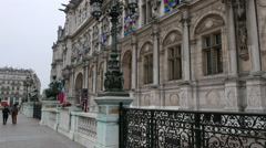 The City Hall of Paris called Hotel de ville - stock footage