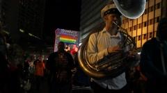 Mardi Gras 2015 New Orleans - Krewe Du Vieux 4 Stock Footage