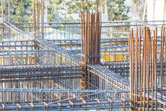 Stock Photo of foundation steel rod for house building