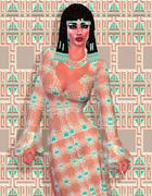 Cleopatra of Egypt! Our modern digital art Egyptian fantasy version. Stock Illustration