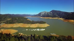 Above a beautiful Shasta lake Stock Footage