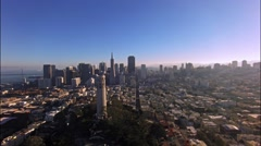 Modern city California aerial view Stock Footage