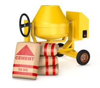 Cement mixer Stock Illustration