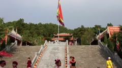 Natural scenery, landscape Temple Festival Stock Footage