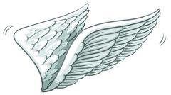 A plain drawing of wings Stock Illustration