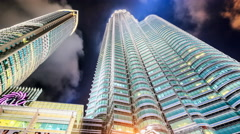 Kuala Lumpur City Centre hyperlapse Stock Footage