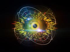 Eye Particle - stock illustration