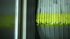 Escalator tread Stock Footage