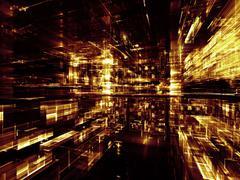 Glow of City - stock illustration