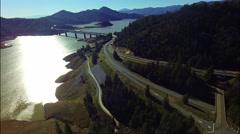 Bridge Bay Mountain Stock Footage