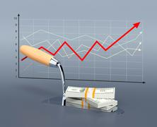 trend in the housing market - stock illustration