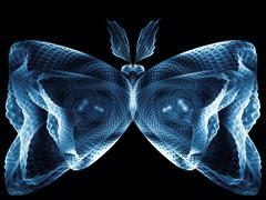 Digital Butterfly - stock illustration