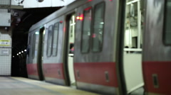 subway doors close - stock footage