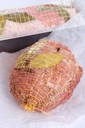 Stock Photo of Baked pork - preparation