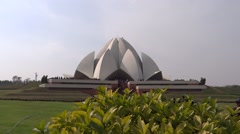 Lotus Temple or Bahai House of Worship 5 Stock Footage