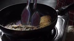 Frying Putty Stock Footage