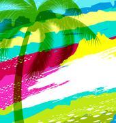 Summer holiday Stock Illustration