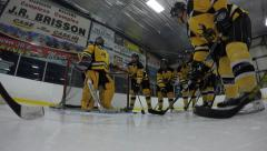 4k hockey team pre game rally Stock Footage