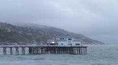 Malibu pier Stock Footage