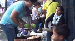 Sidewalk Vendor Stock Footage
