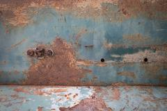 Rusty metal plate corroded aged texture background Stock Photos