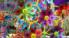 Windmill toy, very interesting Stock Footage