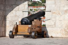 Cannon on the Wall - stock photo