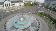 Aerial view on presidential palace in Bratislava Stock Footage