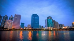 Bangkok city downtown Day to Night time lapse, Thailand. HD. 1920x1080 Stock Footage