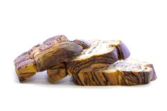Fresh bread mixed with chocolate flesh layers Stock Photos