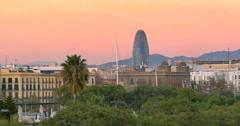Barcelona  is the capital city of the autonomous community of Catalonia - stock footage