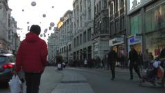 People & vehicles on Oxford Street (Time Lapse) 2 Stock Footage