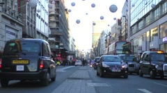 people & vehicles on Oxford Street (Time Lapse) 1 - stock footage