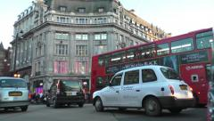 Crowds & vehicles at Oxford Circus, Time Lapse Stock Footage