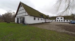 Visting the old water mill in Esrum Stock Footage