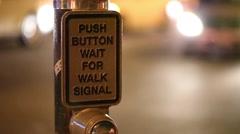 Crosswalk button Stock Footage