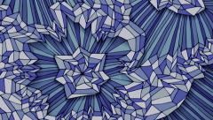 Hand drawn crystalline structure background animation Stock Footage