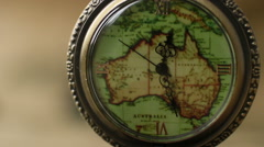 Pocket Watches On The World Map 9 Stock Footage