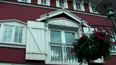 Iceland city of Reykjavik 012 typical Icelandic urban facade in downtown Stock Footage