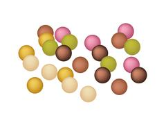 Anko Dama or Japanese Jelly Ball Made From Sweet Potato Stock Illustration