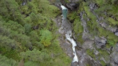 AERIAL River In A Green Valley 2 Stock Footage