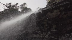 SLOWMOTION Waterfall In A Primeval Setting3 - stock footage