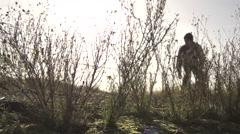 SLOWMOTION Skateboarders Silhoutte Jumping Stock Footage